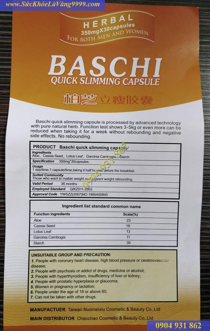 BASCHI-Bí quyết giảm cân nhanh chóng, an toàn và hiệu quả cho nam nữ - 2